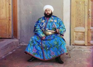 Emir Seyyid Mir Mohammed Alim Khan, the Emir of Bukhara. Origin of the phrase