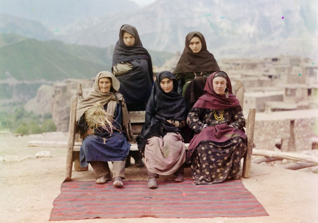 Or these ladies. By the way--isn't the background incredible? Imagine building and spending your whole life in one of those little stone houses, and never really expecting to go anywhere else.